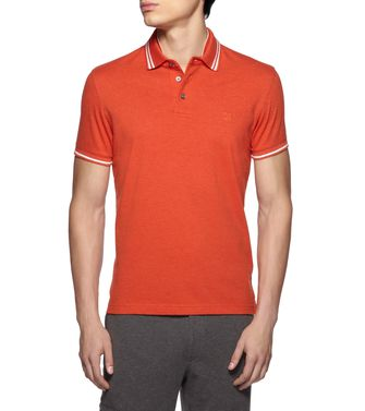 ZEGNA SPORT: kurzärmliges Poloshirt Orange - 37524012OW