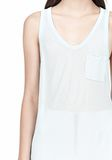 T by ALEXANDER WANG TANK WITH POCKET TOP Adult 8_n_a
