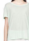 T by ALEXANDER WANG SINGLE JERSEY SHORT SLEEVE TEE Short sleeve t-shirt Adult 8_n_a