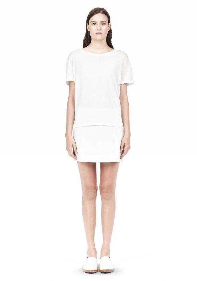 T by ALEXANDER WANG SINGLE JERSEY SHORT SLEEVE TEE Short sleeve t-shirt Adult 12_n_f