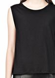 T by ALEXANDER WANG SINGLE JERSEY MUSCLE TEE TOP Adult 8_n_a