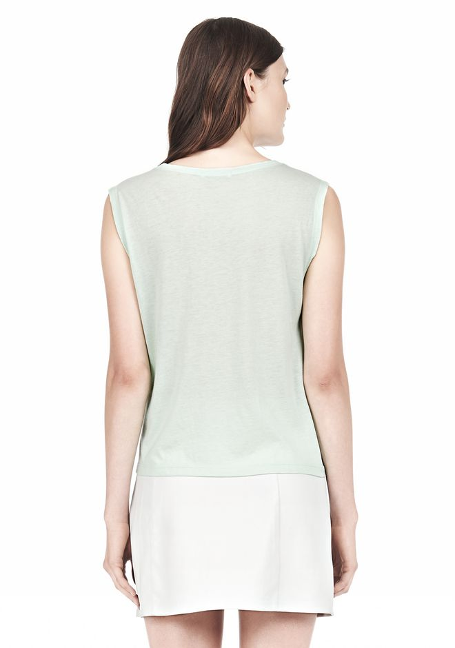 T by ALEXANDER WANG SINGLE JERSEY MUSCLE TEE TOP Adult 12_n_d