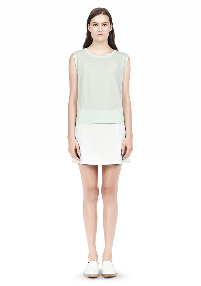 T by ALEXANDER WANG SINGLE JERSEY MUSCLE TEE