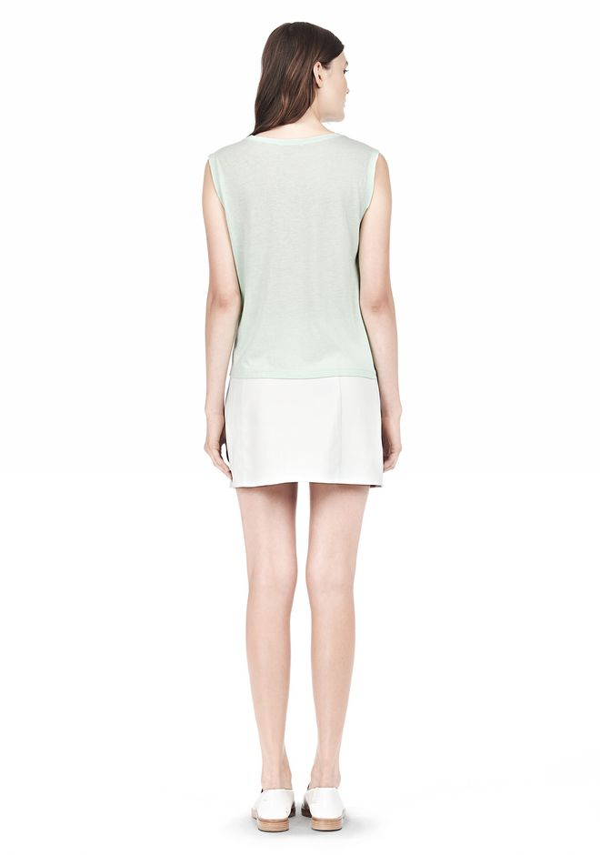 T by ALEXANDER WANG SINGLE JERSEY MUSCLE TEE TOP Adult 12_n_r