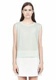 T by ALEXANDER WANG SINGLE JERSEY MUSCLE TEE TOP Adult 8_n_e