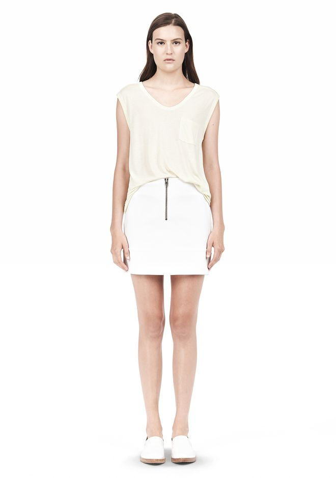 T by ALEXANDER WANG MUSCLE TEE WITH POCKET