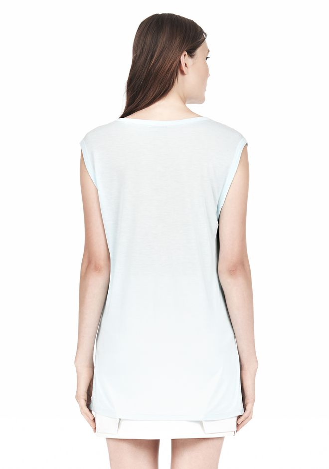 T by ALEXANDER WANG MUSCLE TEE WITH POCKET TOP Adult 12_n_d