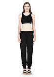 T by ALEXANDER WANG JERSEY SPORTS BRA WITH CUTOUT BACK DETAIL TOP Adult 8_n_f