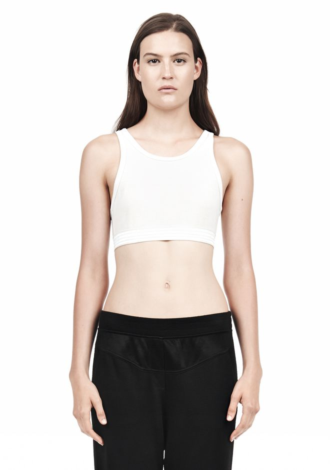T by ALEXANDER WANG JERSEY SPORTS BRA WITH CUTOUT BACK DETAIL TOP Adult 12_n_e