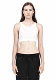 T by ALEXANDER WANG JERSEY SPORTS BRA WITH CUTOUT BACK DETAIL TOP Adult 8_n_e