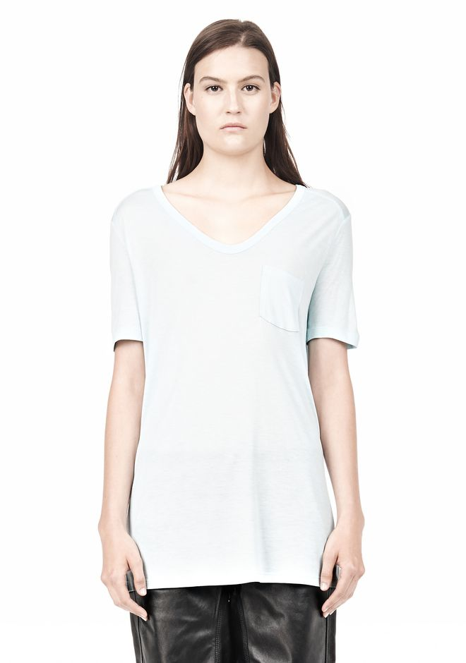 T by ALEXANDER WANG TEE WITH POCKET Short sleeve t-shirt Adult 12_n_e