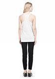 T by ALEXANDER WANG LINEN SILK JERSEY TANK TOP Adult 8_n_r