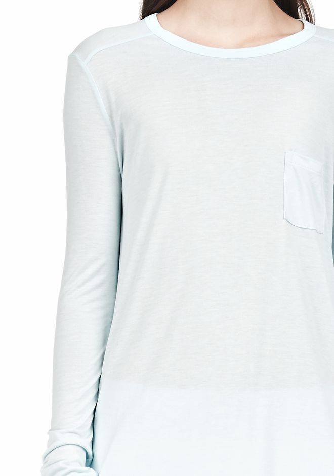 T by ALEXANDER WANG LONG SLEEVE TEE WITH POCKET LONG SLEEVE TEE Adult 12_n_a