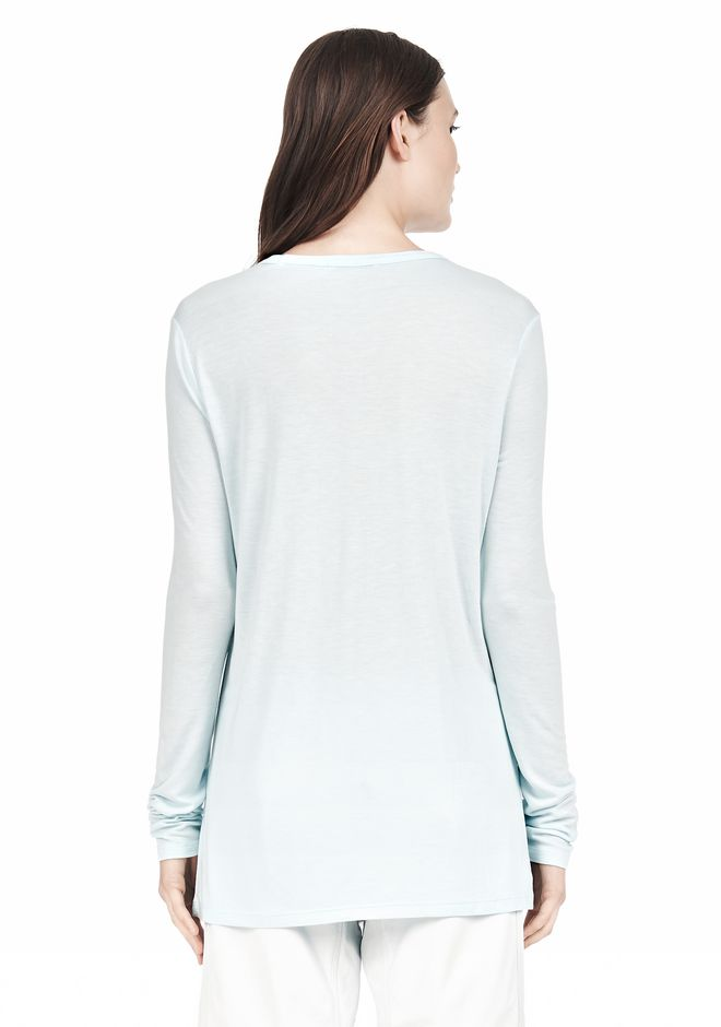 T by ALEXANDER WANG LONG SLEEVE TEE WITH POCKET LONG SLEEVE TEE Adult 12_n_d