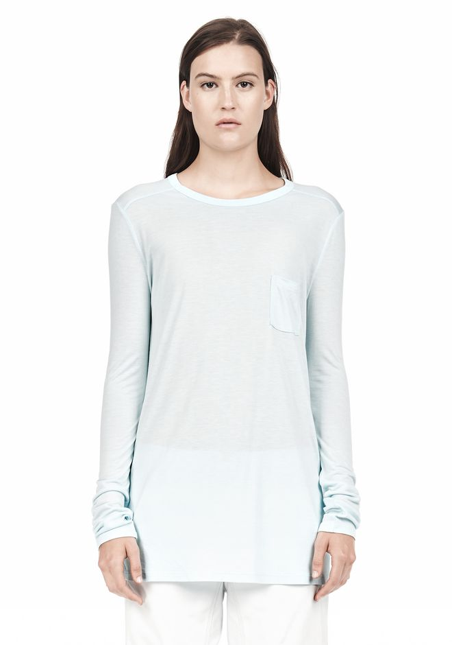 T by ALEXANDER WANG LONG SLEEVE TEE WITH POCKET LONG SLEEVE TEE Adult 12_n_e