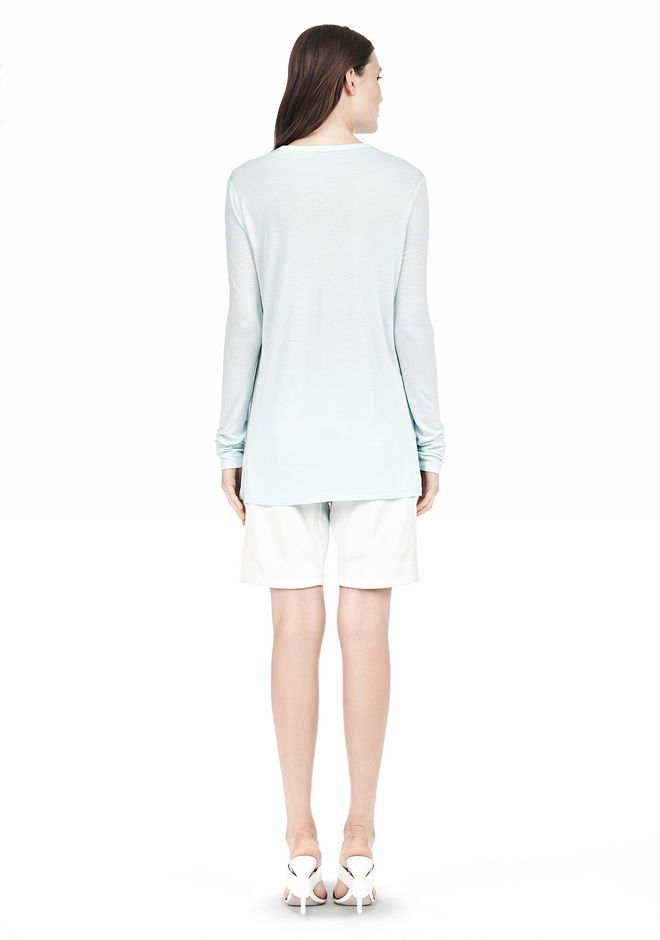 T by ALEXANDER WANG LONG SLEEVE TEE WITH POCKET LONG SLEEVE TEE Adult 12_n_r