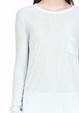 T by ALEXANDER WANG LONG SLEEVE TEE WITH POCKET LONG SLEEVE TEE Adult 8_n_a