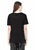 T by ALEXANDER WANG LINEN SILK SHORT SLEEVE TEE TOP Adult 8_n_d
