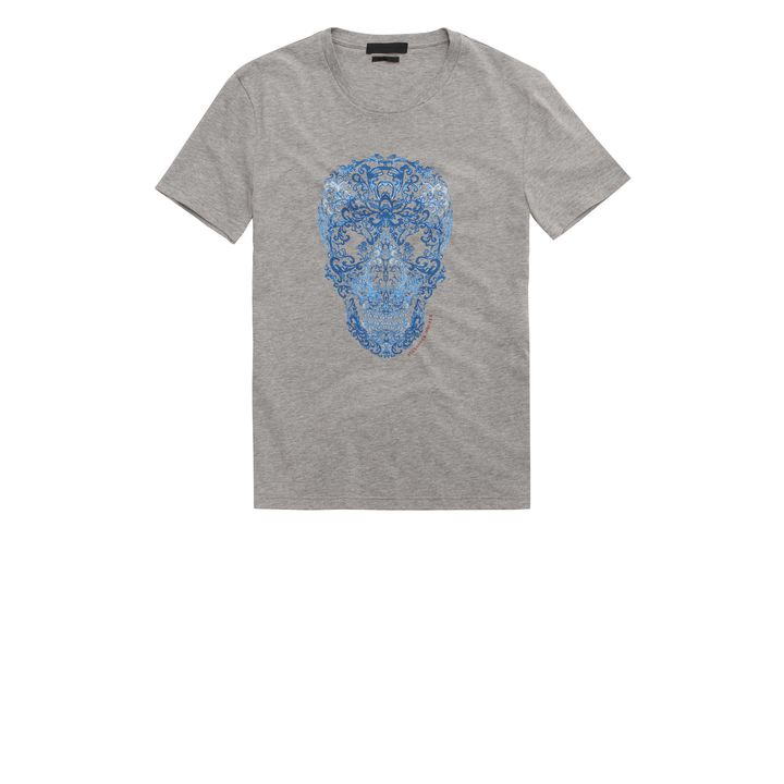 Alexander McQueen, T-shirt imprimé Skull effet dentelle