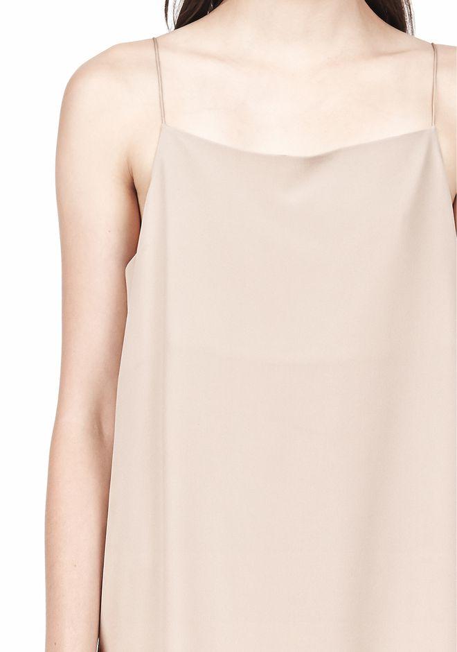 T by ALEXANDER WANG SILK SQUARE NECK SLIP DRESS Short Dress Adult 12_n_a