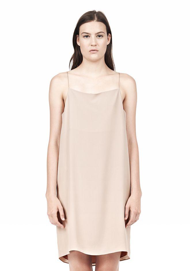 T by ALEXANDER WANG SILK SQUARE NECK SLIP DRESS Short Dress Adult 12_n_d