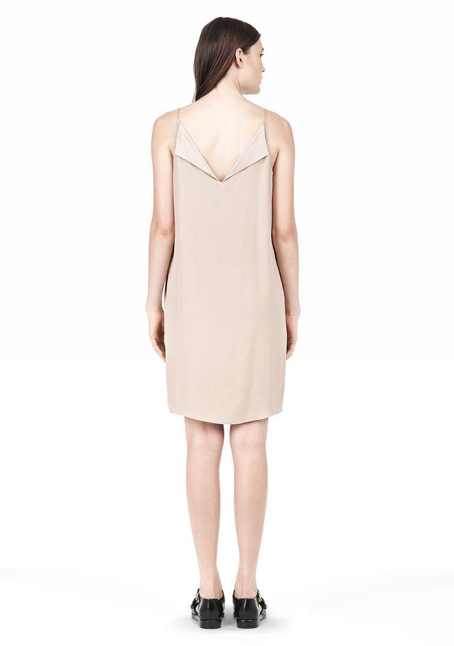 T by ALEXANDER WANG SILK SQUARE NECK SLIP DRESS Short Dress Adult 12_n_r