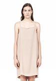 T by ALEXANDER WANG SILK SQUARE NECK SLIP DRESS Short Dress Adult 8_n_d
