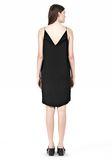 T by ALEXANDER WANG SILK SQUARE NECK SLIP DRESS Short Dress Adult 8_n_r