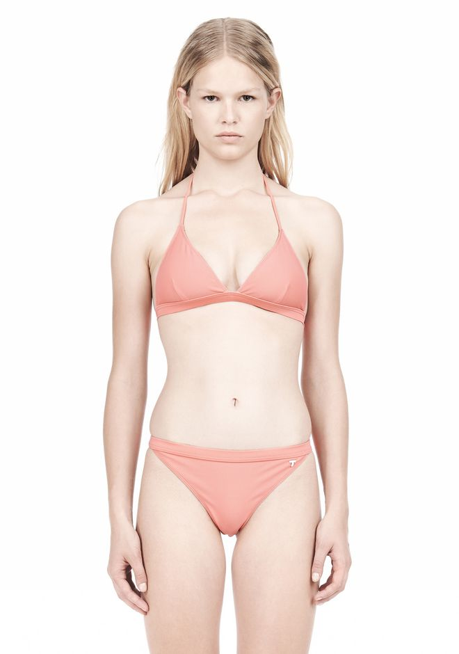 T by ALEXANDER WANG TRIANGLE BIKINI TOP WITH TIE AND BACK CLOSURE Swimwear Adult 12_n_e