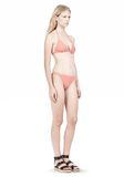 T by ALEXANDER WANG TRIANGLE BIKINI TOP WITH TIE AND BACK CLOSURE Swimwear Adult 8_n_r