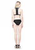 T by ALEXANDER WANG MESH COMBO HALTER RACERBACK SWIM TOP Swimwear Adult 8_n_r