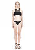 T by ALEXANDER WANG MESH COMBO CREWNECK RACERBACK SWIM TOP Swimwear Adult 8_n_f