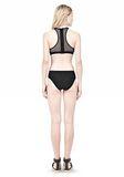 T by ALEXANDER WANG MESH COMBO CREWNECK RACERBACK SWIM TOP Swimwear Adult 8_n_r