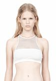 T by ALEXANDER WANG MESH COMBO CREWNECK RACERBACK SWIM TOP Swimwear Adult 8_n_d