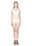 T by ALEXANDER WANG MESH COMBO CREWNECK RACERBACK SWIM TOP Swimwear Adult 8_n_f