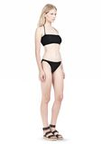 T by ALEXANDER WANG SWIM MATTE JERSEY BANDEAU WITH TRIANGLE T STRAPS Swimwear Adult 8_n_e