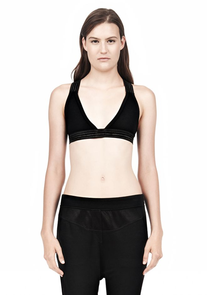 T by ALEXANDER WANG CRISS CROSS BRA TOP Adult 12_n_e