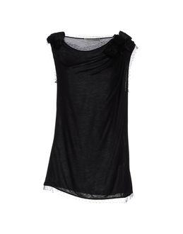 VALENTINO T-SHIRT COUTURE Sleeveless t-shirts $ 274.00