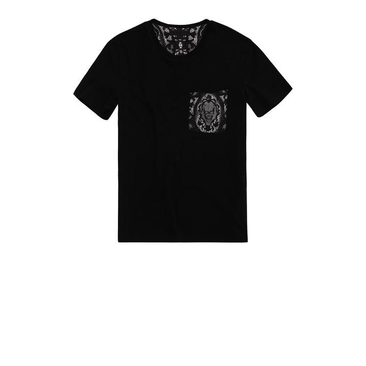 Alexander McQueen, Skull Lace Patch Pocket T-Shirt