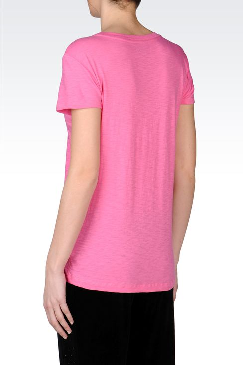 PRINTED JERSEY T-SHIRT: Short sleeved t-shirts Women by Armani - 3