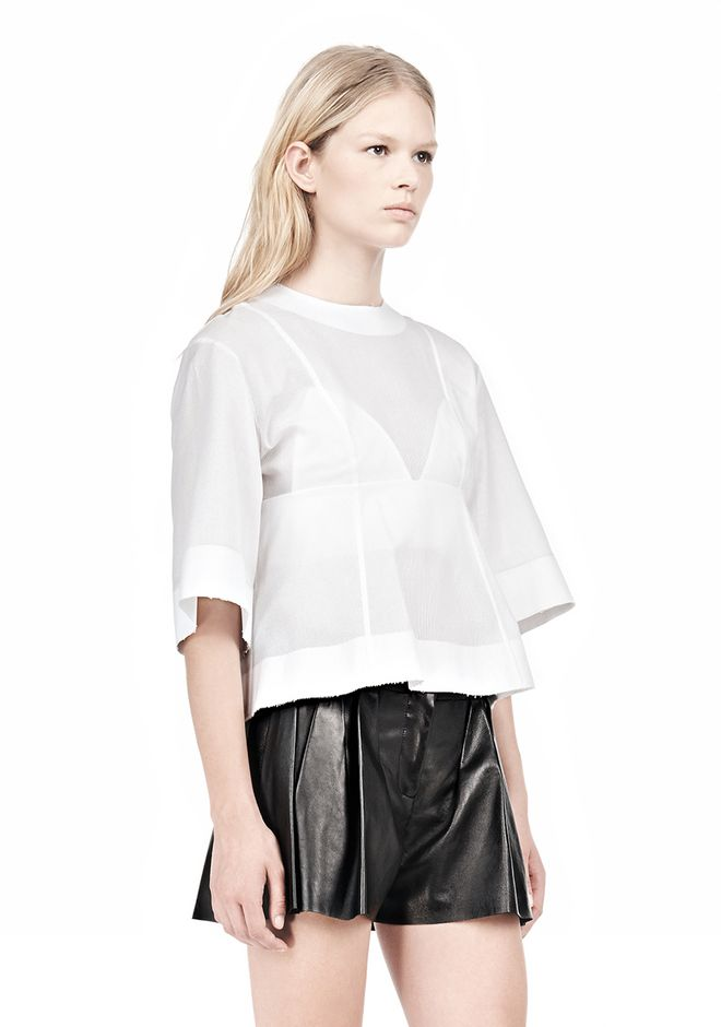 ALEXANDER WANG SUSPENDED T-SHIRT WITH BRA DETAIL Blouse Adult 12_n_a