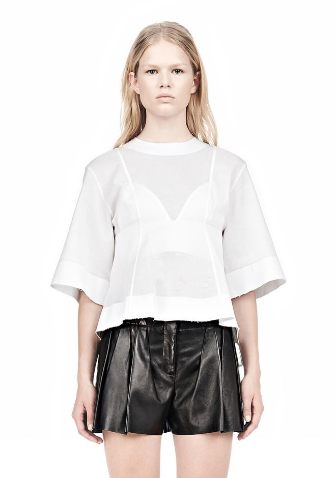 ALEXANDER WANG SUSPENDED T-SHIRT WITH BRA DETAIL Blouse Adult 12_n_e