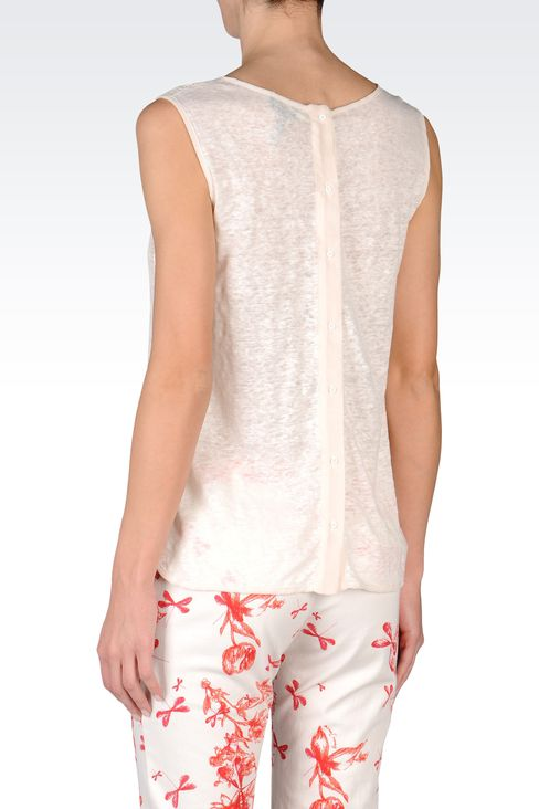 SLEEVELESS LACE TOP: Print t-shirts Women by Armani - 3