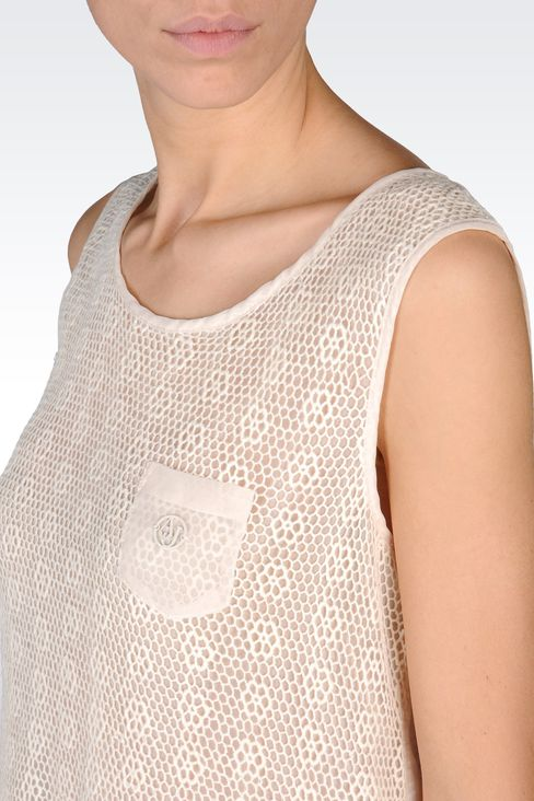 SLEEVELESS LACE TOP: Print t-shirts Women by Armani - 4