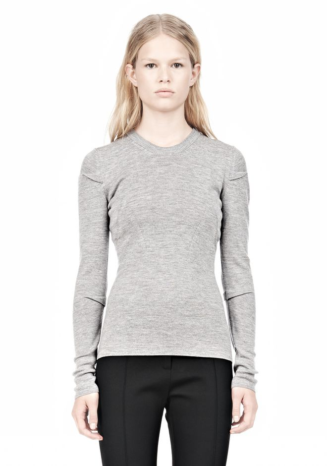 ALEXANDER WANG RIBBED PULLOVER WITH PINCHED DARTS TOP Adult 12_n_e