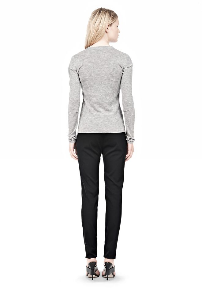 ALEXANDER WANG RIBBED PULLOVER WITH PINCHED DARTS TOP Adult 12_n_r