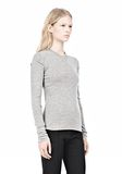 ALEXANDER WANG RIBBED PULLOVER WITH PINCHED DARTS TOP Adult 8_n_a