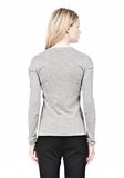 ALEXANDER WANG RIBBED PULLOVER WITH PINCHED DARTS TOP Adult 8_n_d