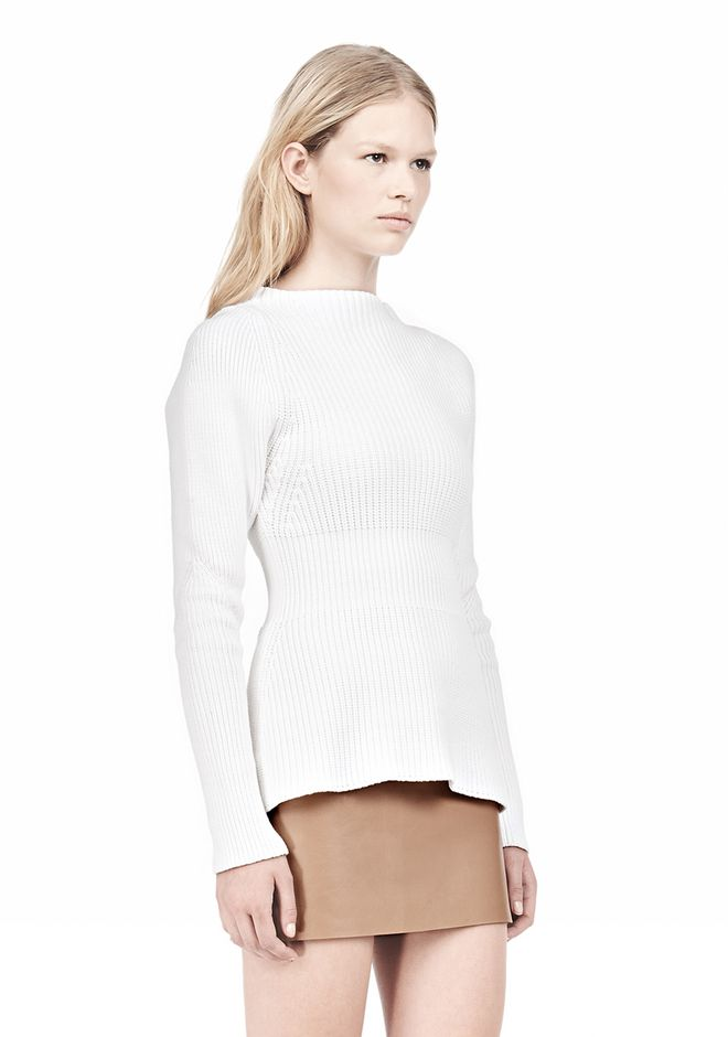 PINCHED WAIST KNIT PULLOVER