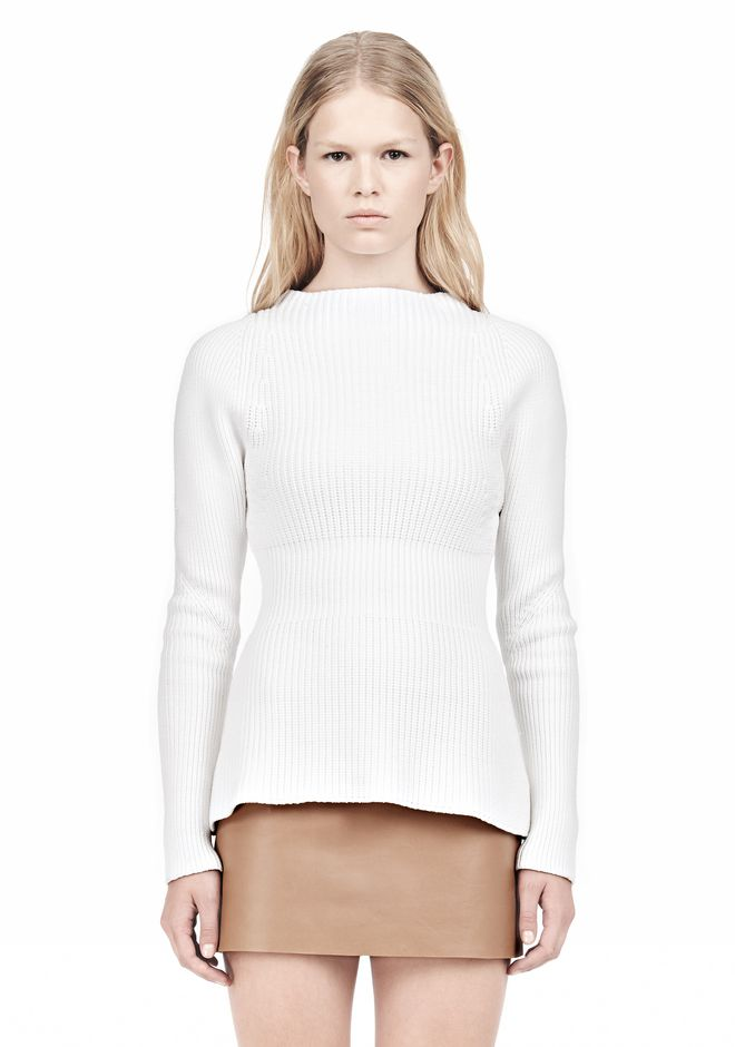ALEXANDER WANG PINCHED WAIST KNIT PULLOVER TOP Adult 12_n_e
